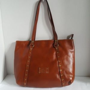 NWT Patricia Nash Leather Trivento Tan Tote Bag